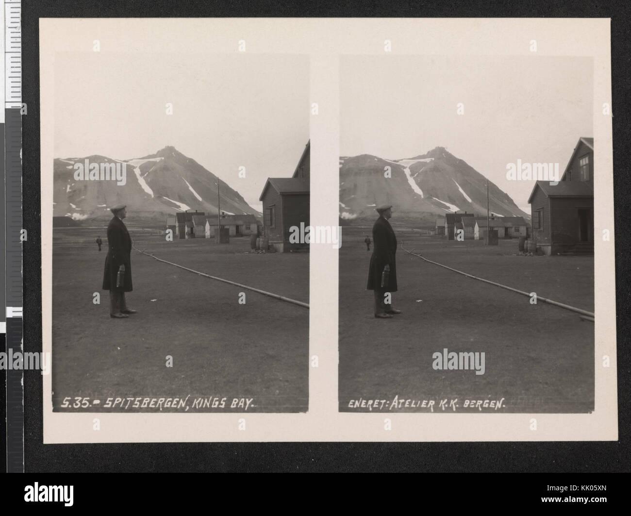 S. 35. Spitsbergen, Kings Bay stereofotografi n. nb digifoto 20151013 00125 bldsa 0977 stereo Immagini Stock