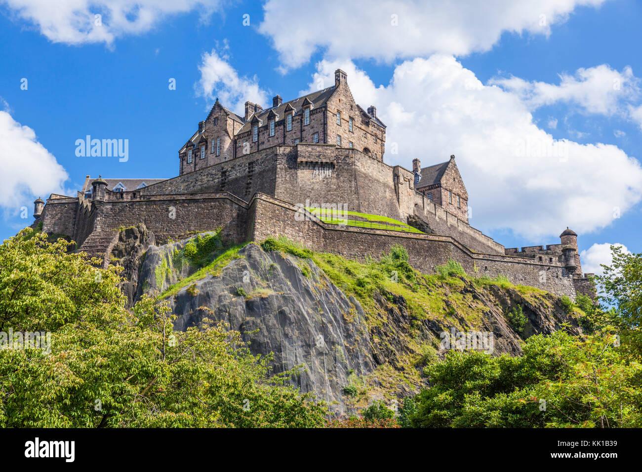 Il Castello di Edimburgo in Scozia castello di Edimburgo Castello scozzese di Edimburgo Città Vecchia Edimburgo Immagini Stock