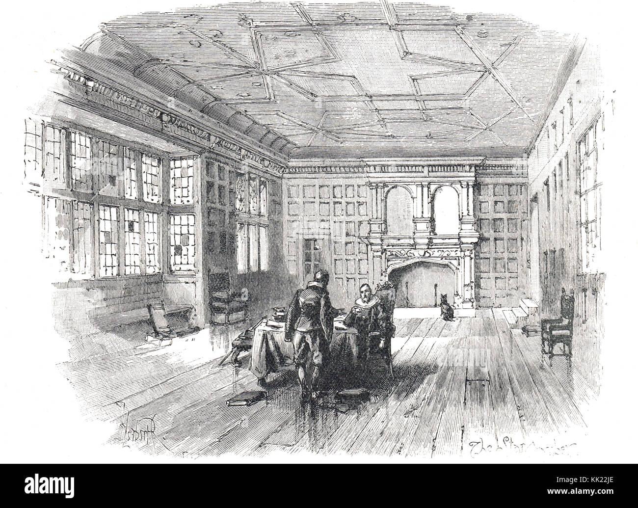 54fc2a3ad75a Interno della camera Star nel XVII secolo, Immagini Stock