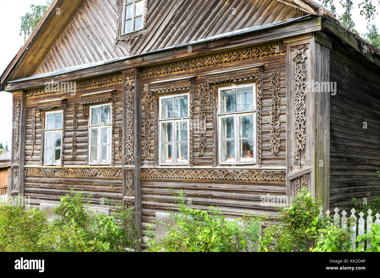 Rivestimento Casa In Legno tradizionale russo vecchia casa in legno intagliato con