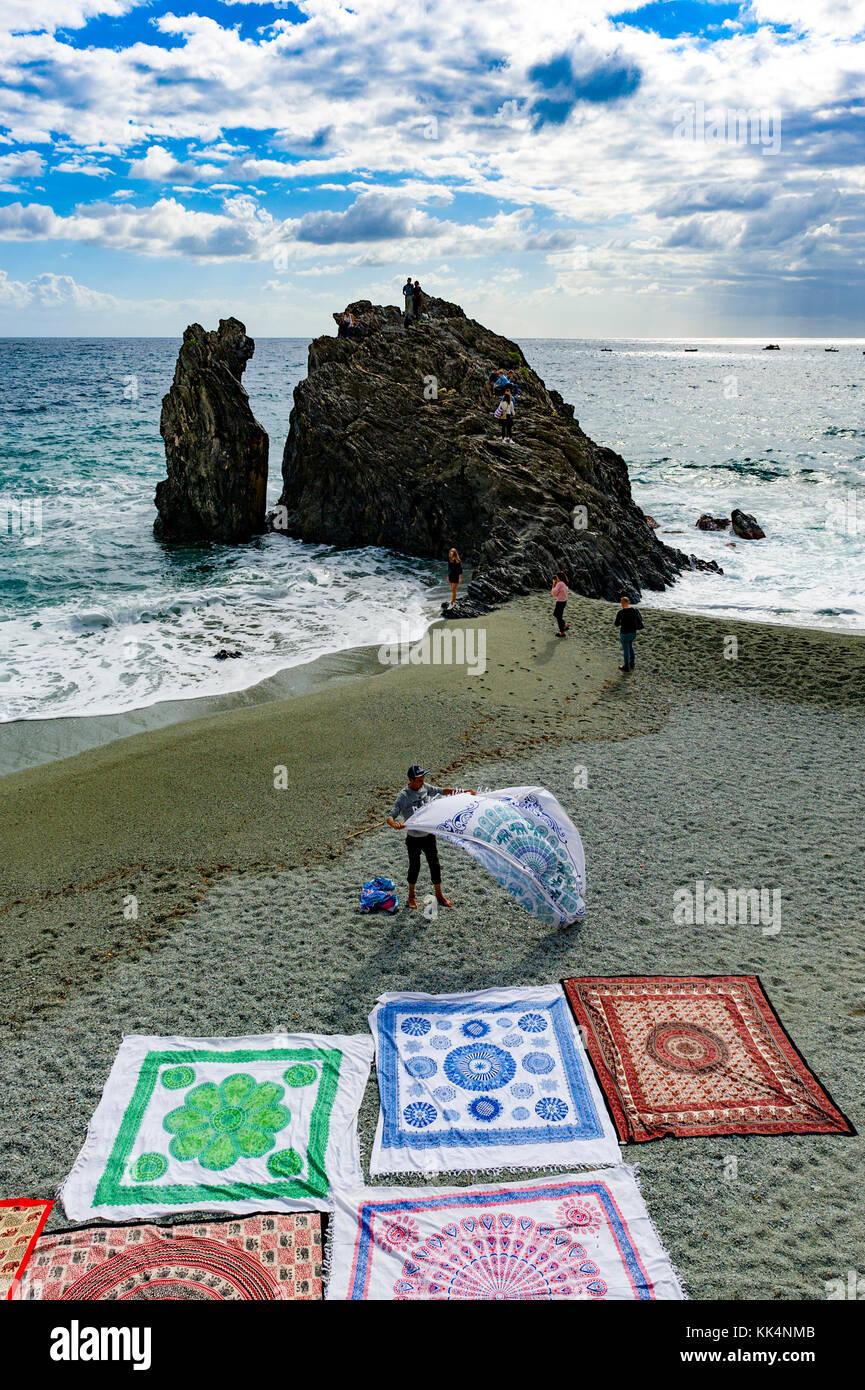 L'Italia. Liguria. Parco Nazionale delle Cinque Terre Sito Patrimonio Mondiale dell'UNESCO. Il villaggio Immagini Stock