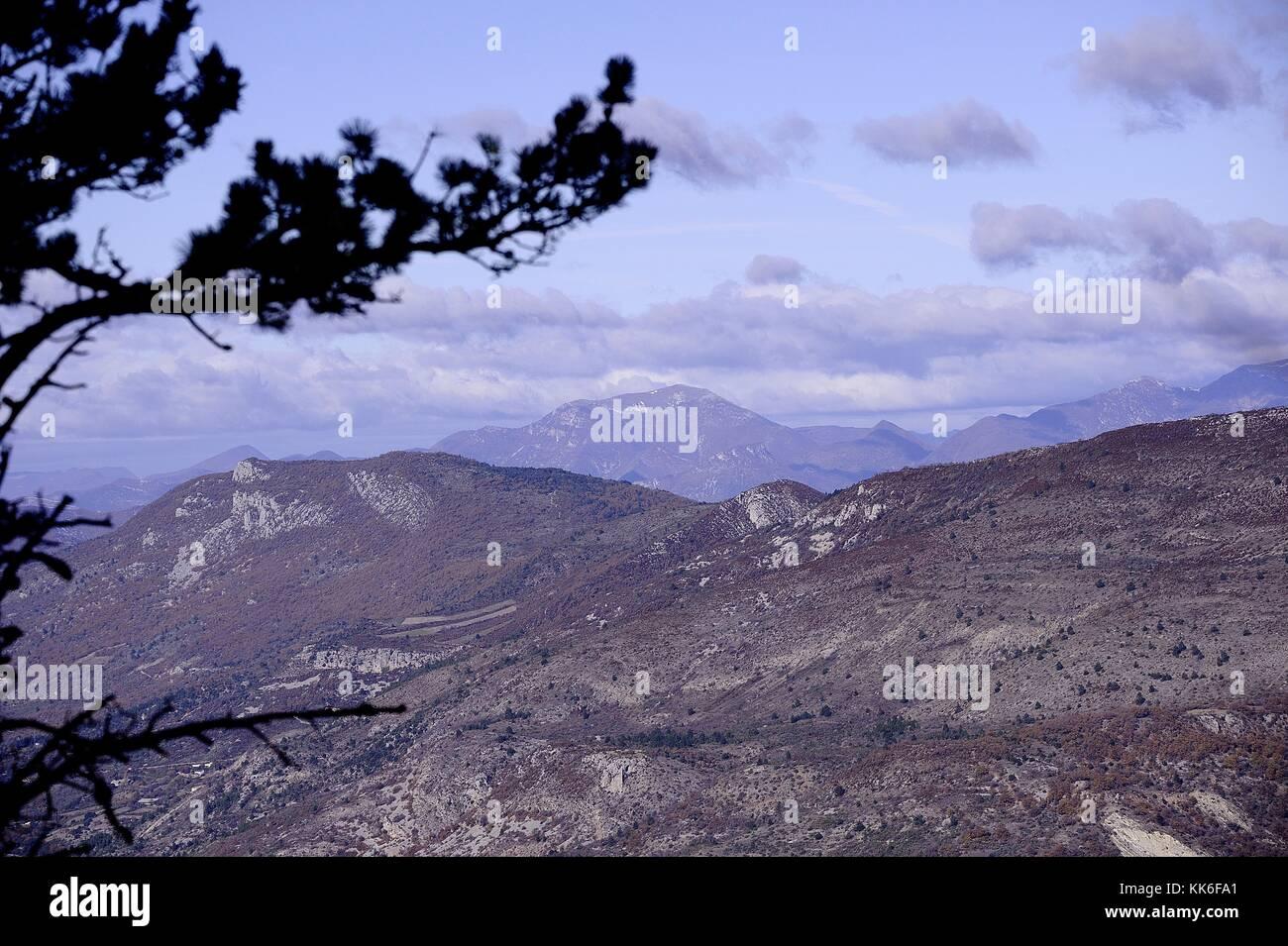 Paysage de montagne Immagini Stock