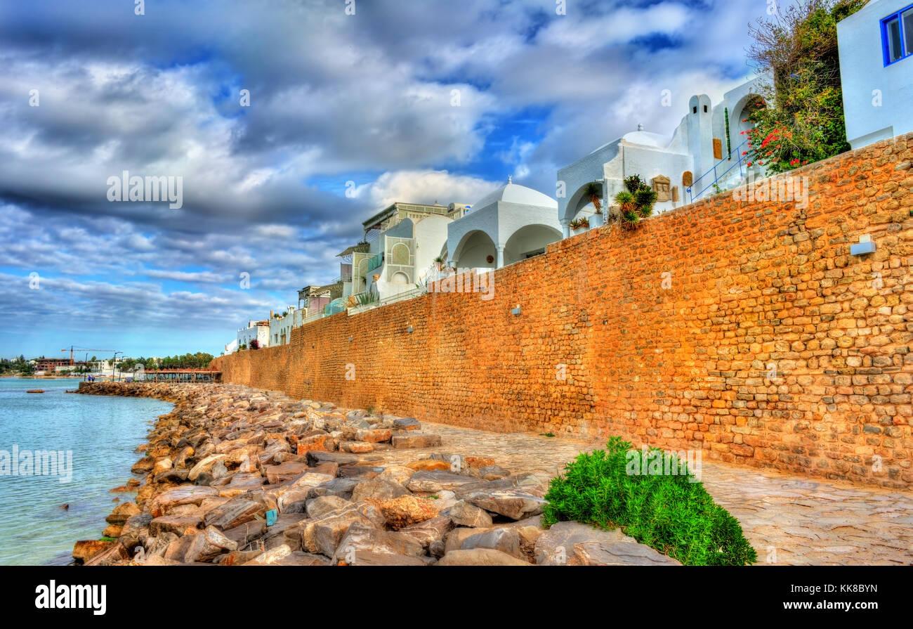 Medina di Hammamet sulla costa mediterranea in Tunisia Immagini Stock