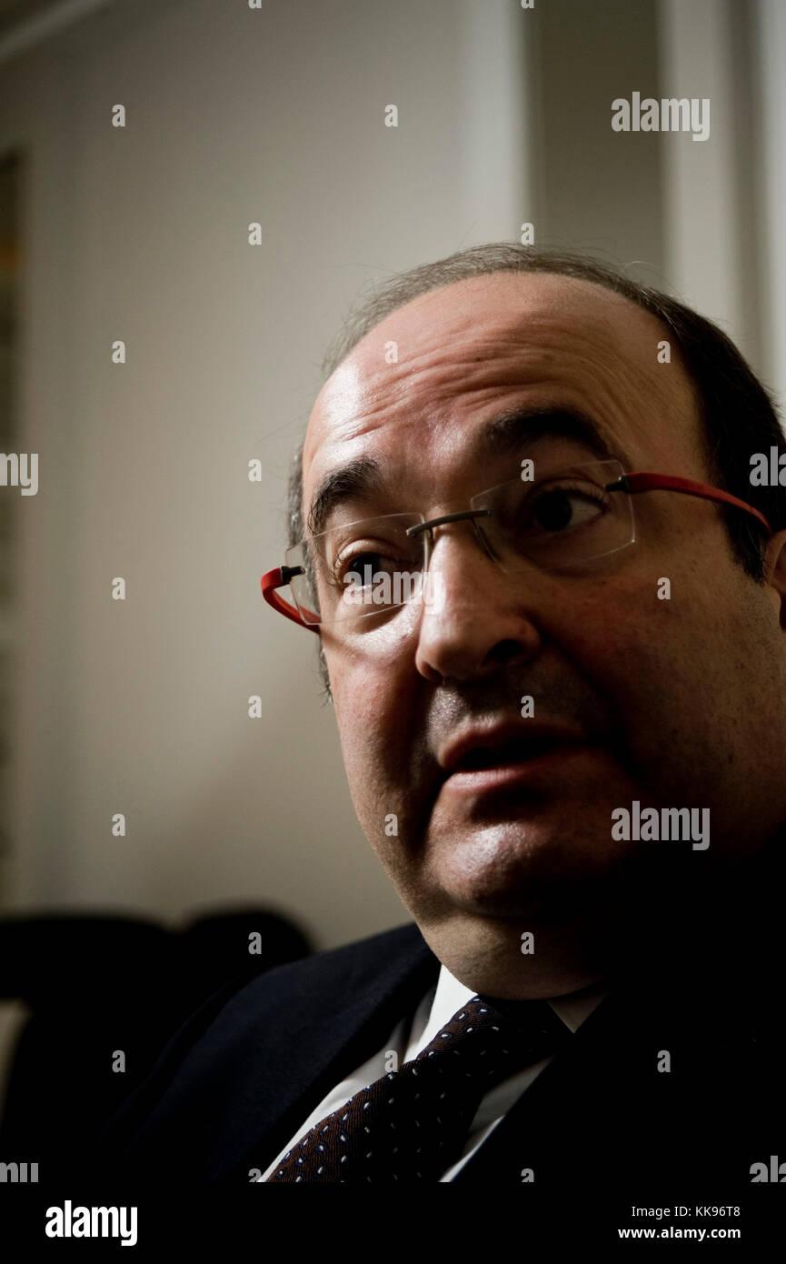 Miquel Iceta, uomo politico catalano, leader del PSC Partit Socialista de Catalunya, candidato alla carica di Presidente Foto Stock