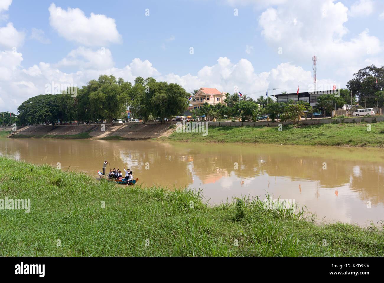 Stung sangke fiume nella città di battambang Immagini Stock