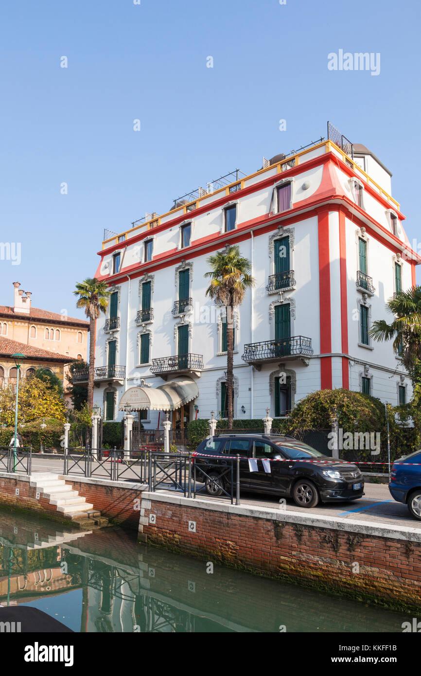 Il classico Liberty o stile Art Nouveau Hotel Atlanta Augustus via Lepanto, Lido de Venezia o VeniceLido, Venezia, Immagini Stock