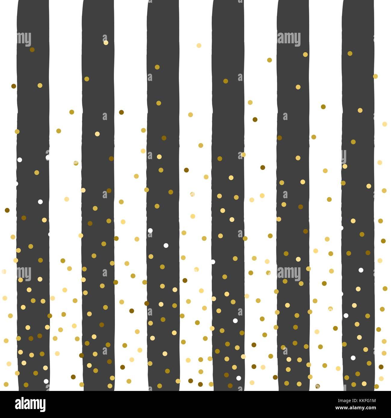 Sfondo Dorato Illustrazione Vettoriale Oro Glitter Confetti