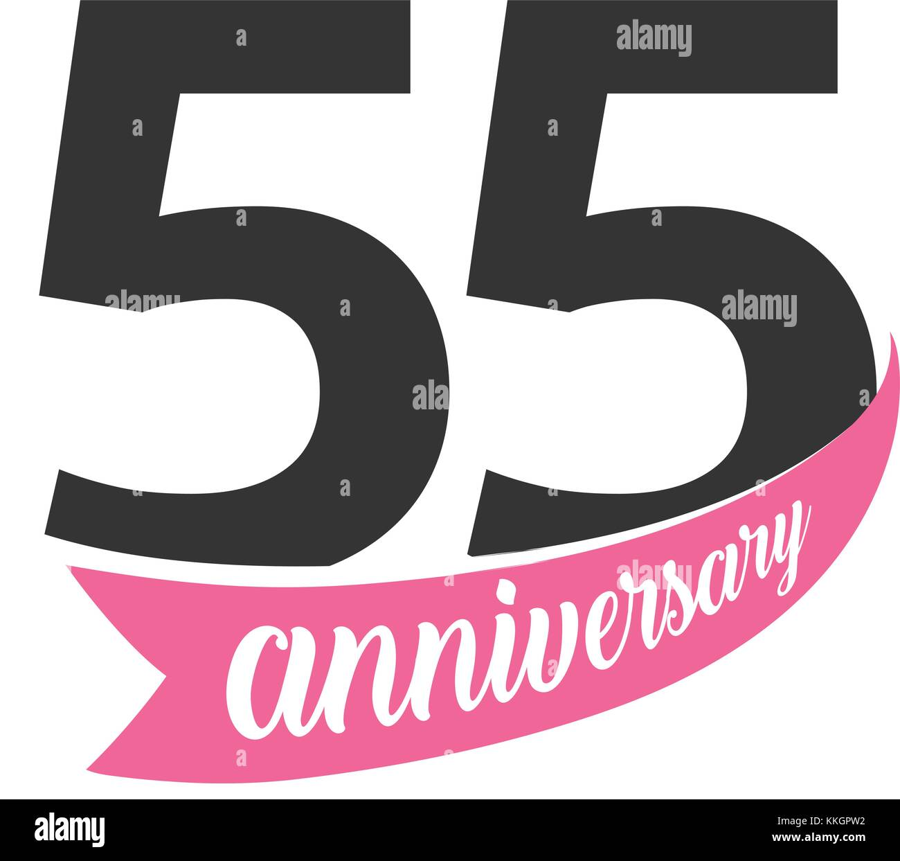Auguri Matrimonio Anniversario : Cinquanta quinto anniversario logo vettoriale numero