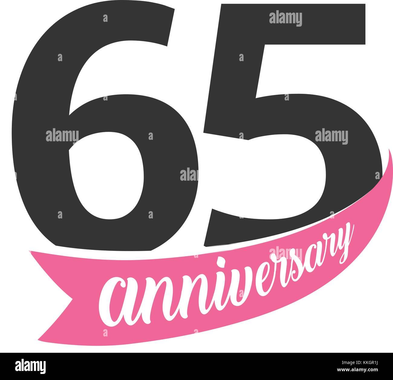 65 Anniversario Di Matrimonio.Sessanta Quinto Anniversario Logo Vettoriale Numero 65