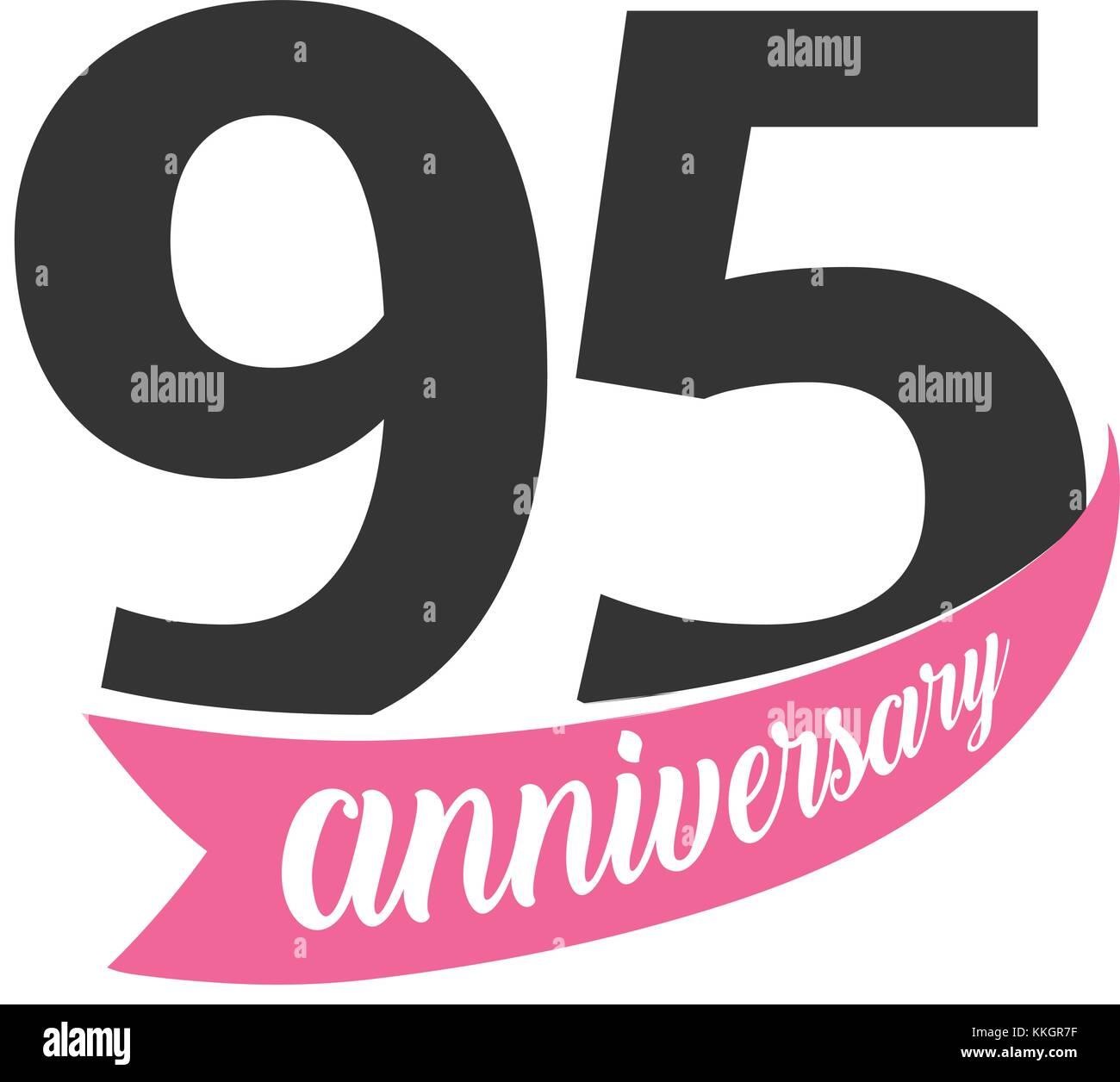 Quinto Anniversario Di Matrimonio.Novanta Quinto Anniversario Logo Vettoriale Numero 95