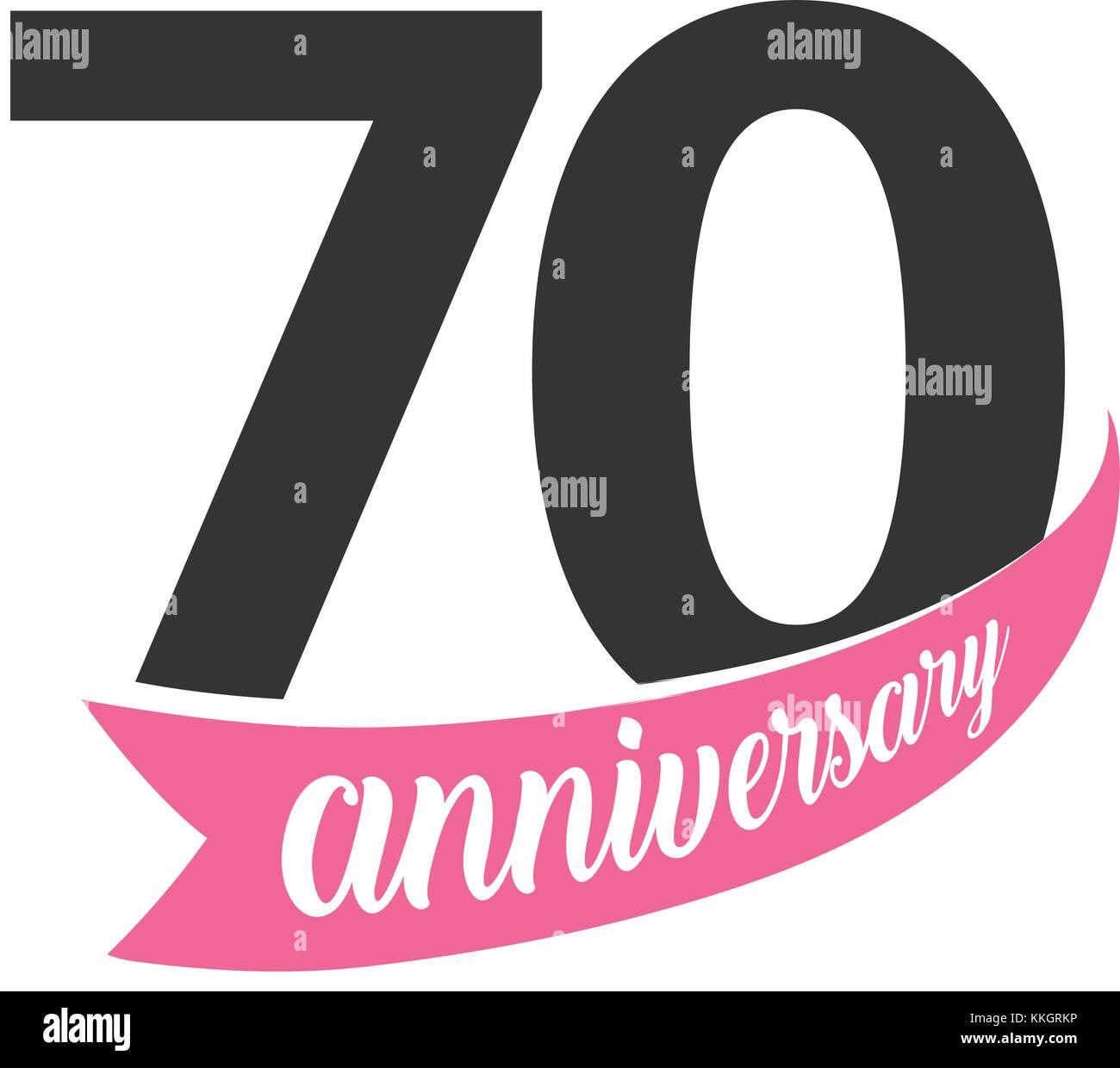 70 Anniversario Di Matrimonio.Settantesimo Anniversario Logo Vettoriale Numero 70
