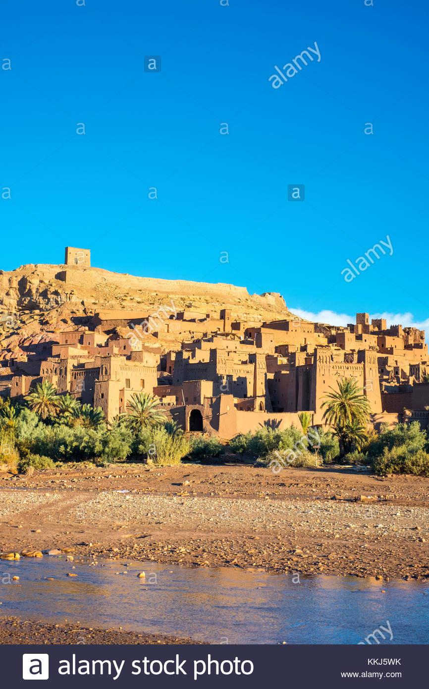 Il Marocco, Sous-Massa (Sous-Massa-Draa), provincia di Ouarzazate. Ksar di Ait Ben Haddou (Ait Benhaddou). Immagini Stock