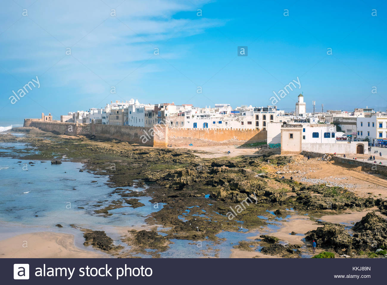 Il Marocco, Marrakesh-Safi (Marrakesh-Tensift-El Haouz) regione, Essaouira. Medina città vecchia, protetto Immagini Stock