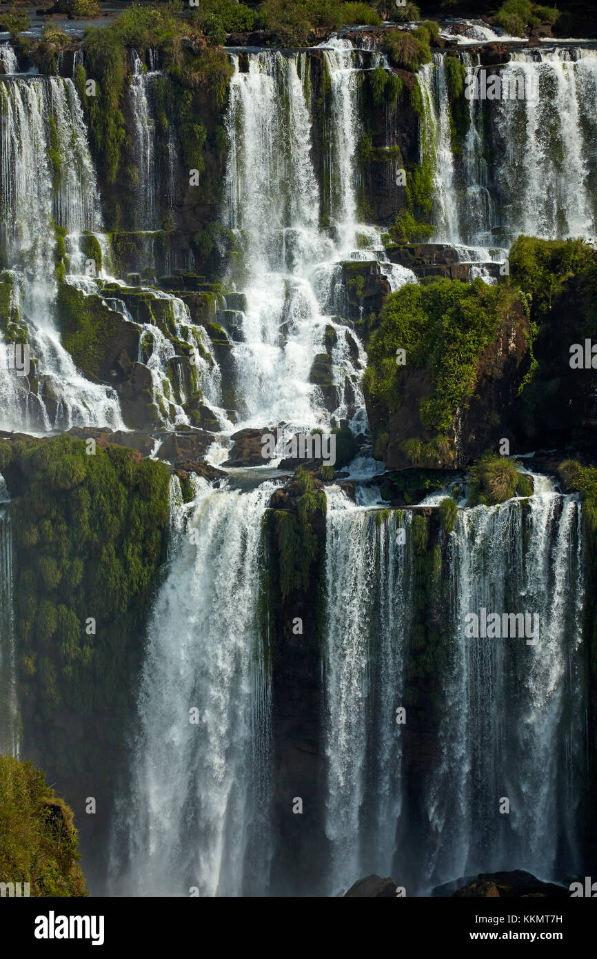 Cascate di Iguassù, argentina, visto dal lato del Brasile, Sud America Immagini Stock