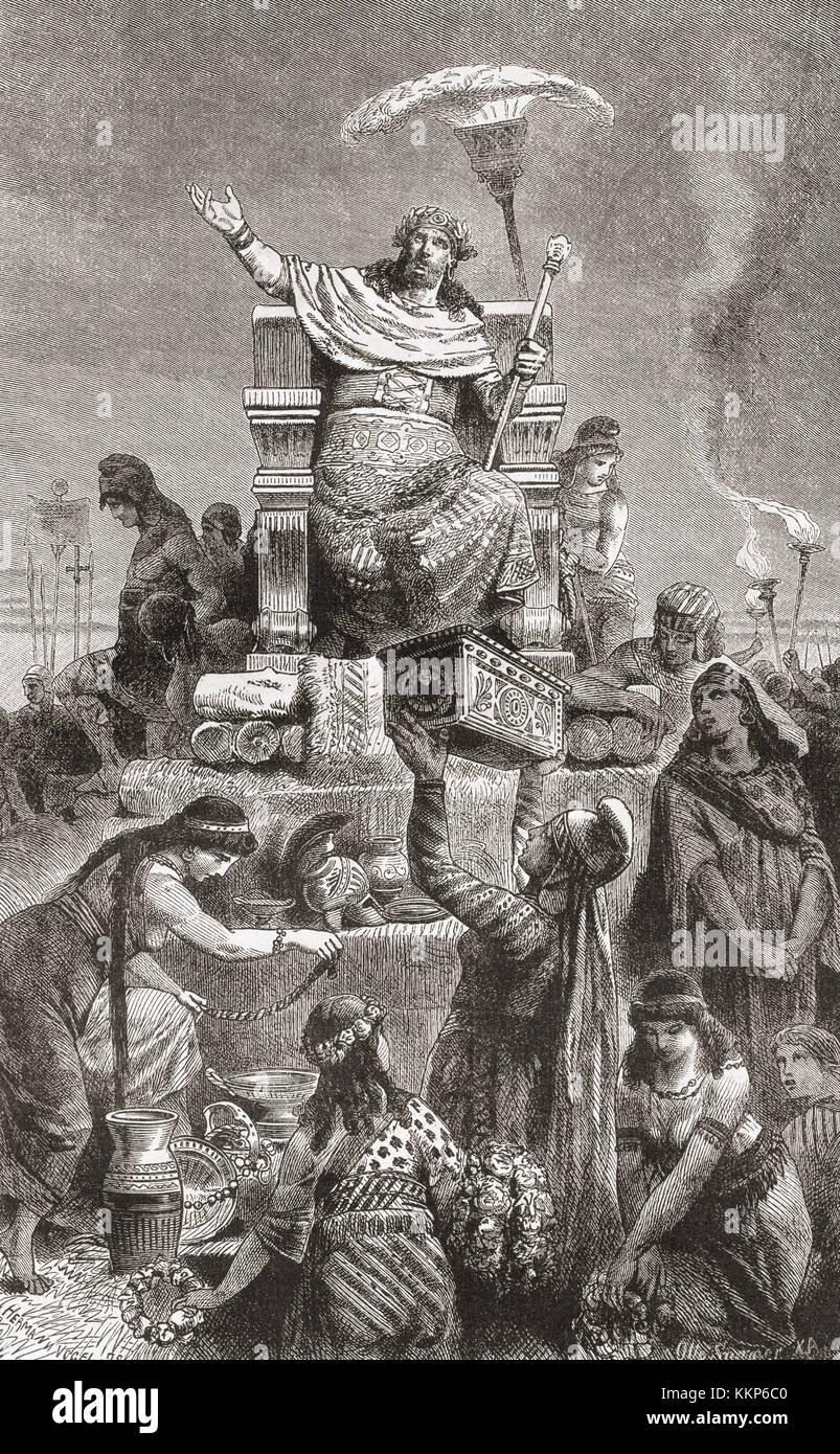 Creso Condannato A Morte Su Una Pira Funeraria Da Ciro Il Grande