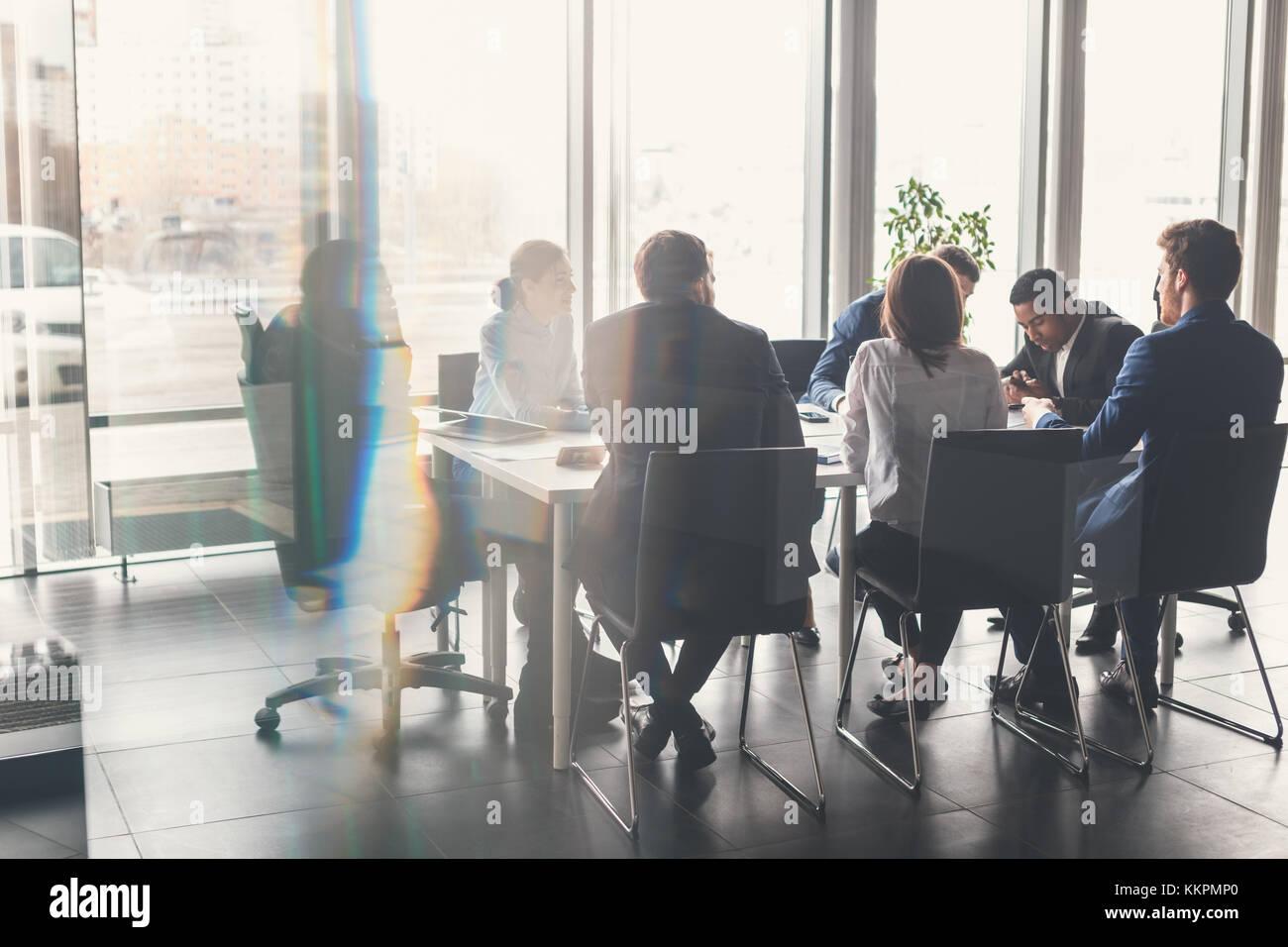 Il team Aziende e manager in una riunione Immagini Stock