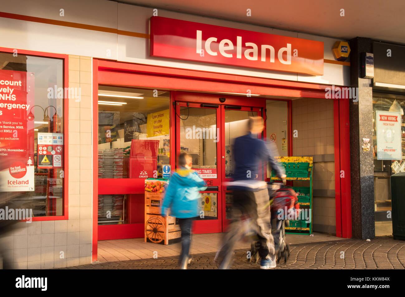 Islanda alimenti storefront shop - REGNO UNITO Immagini Stock