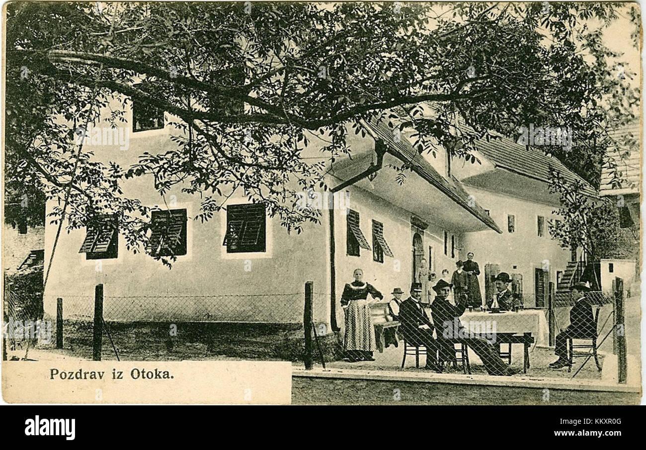Razglednica vasi otok 1910 Immagini Stock