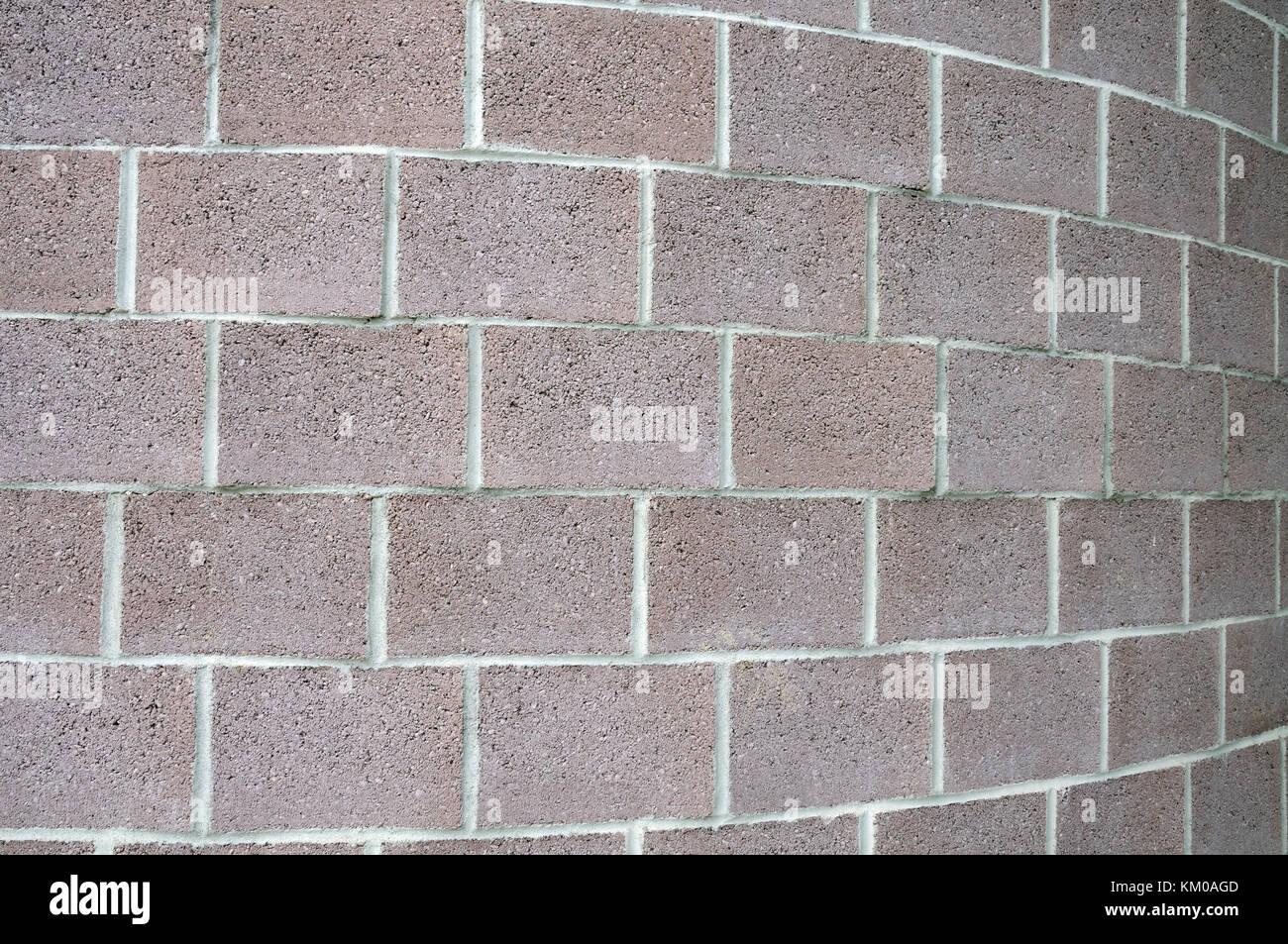 Muro di mattoni con curvatura Immagini Stock