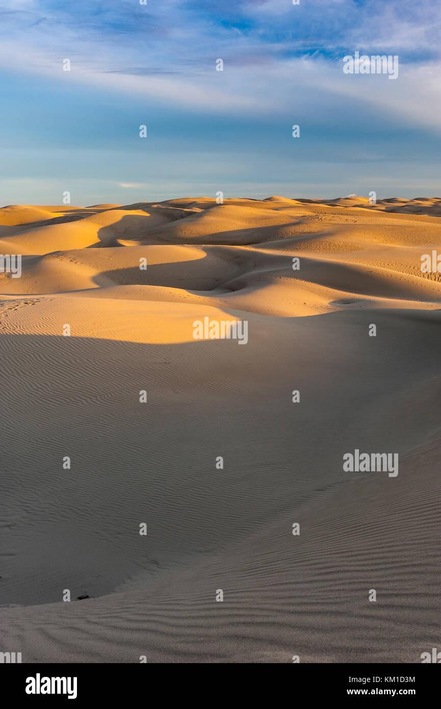 Le dune di sabbia in Oceano Dunes State Vehicular Recreation Area, Oceano dune naturali preservare, costa della Immagini Stock