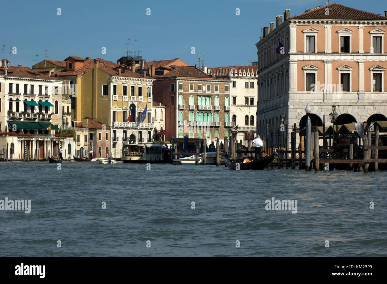 Il famoso Canal Grande di Venezia Immagini Stock