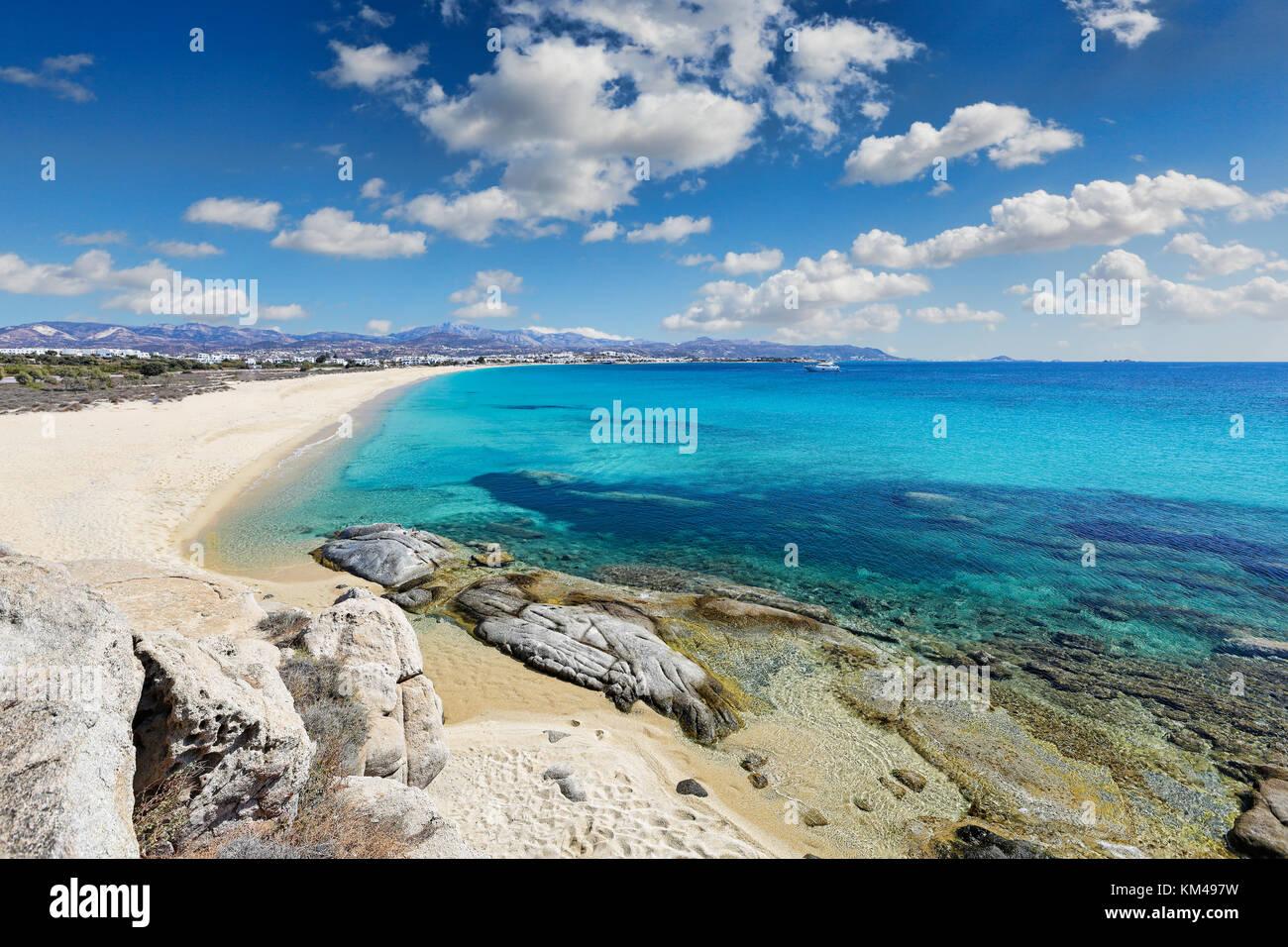 Agios Prokopios beach in Naxos Island, Grecia Foto Stock