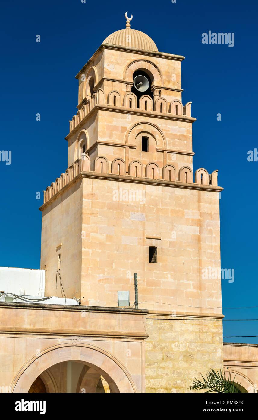 Moschea, presso l'anfiteatro di El Jem, Tunisia Immagini Stock