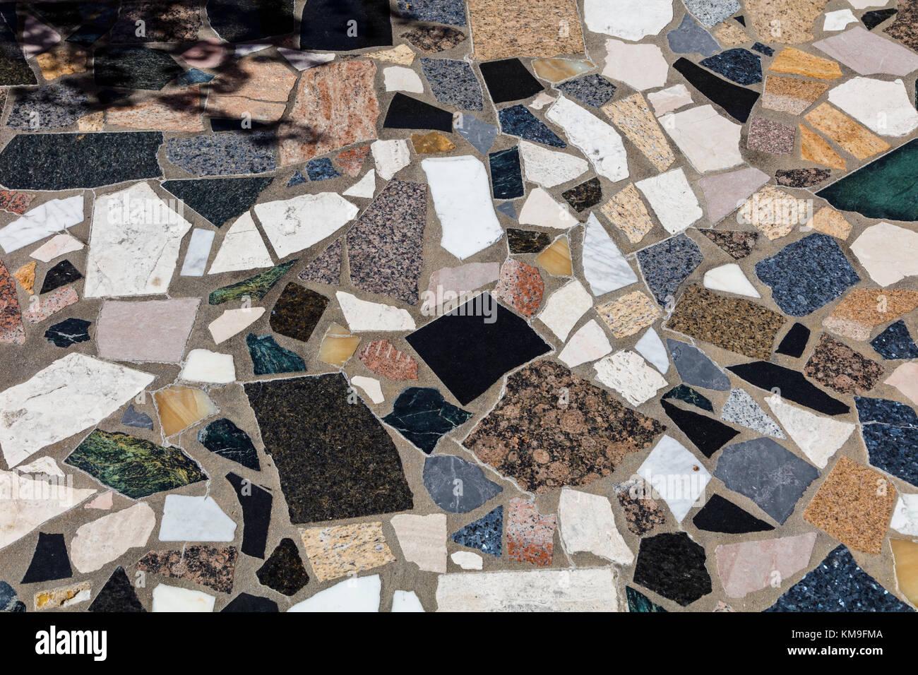 Sfondo di pezzi irregolari di marmo Foto Stock