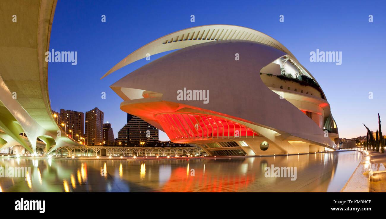 Il Palau de les Arts Reina Sofia dal Calatrava, , valencia, Spagna Immagini Stock