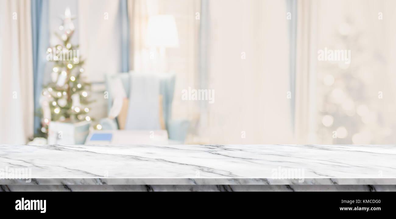 Tavolo In Marmo Bianco.Vuoto In Marmo Bianco Del Tavolo Con Abstract E Accogliente
