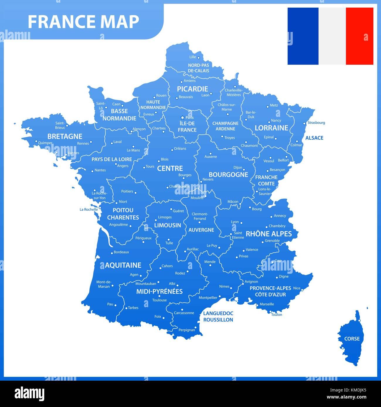 Cartina Francia Tolosa.Parigi Francia Corsica Mappa Atlas Mappa Del Mondo Politico Acqua Nord Immagine E Vettoriale Alamy