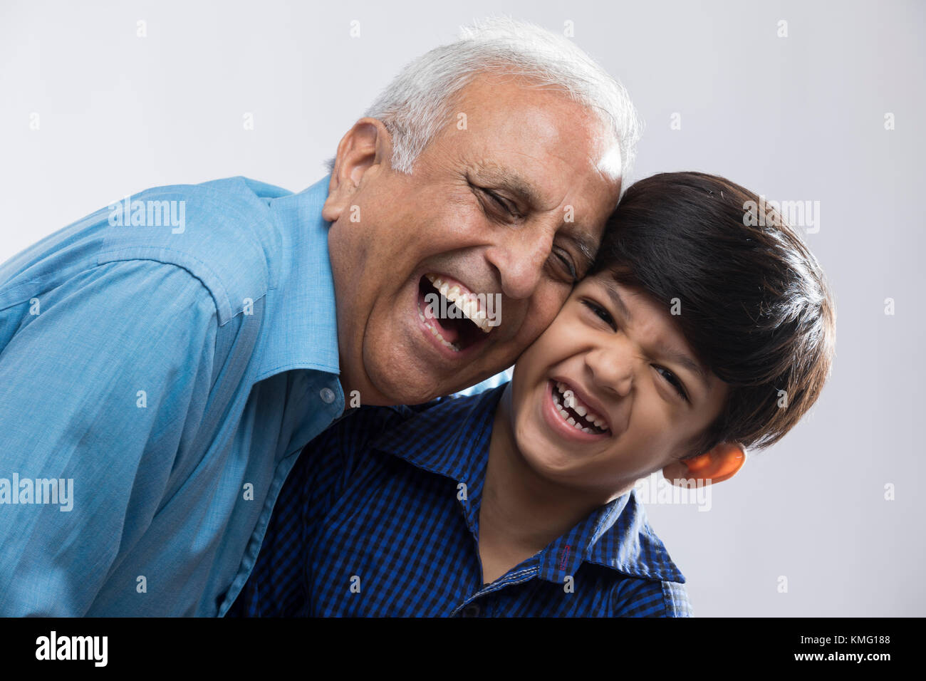 Ritratto di nonno e nipote Immagini Stock