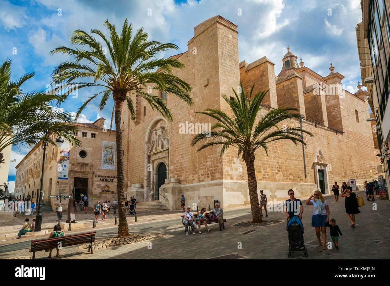 Mare de Deu del Carmen Chiesa. Città di Mahon. Maó comune. Isola di Minorca. Isole Baleari. Spagna Immagini Stock