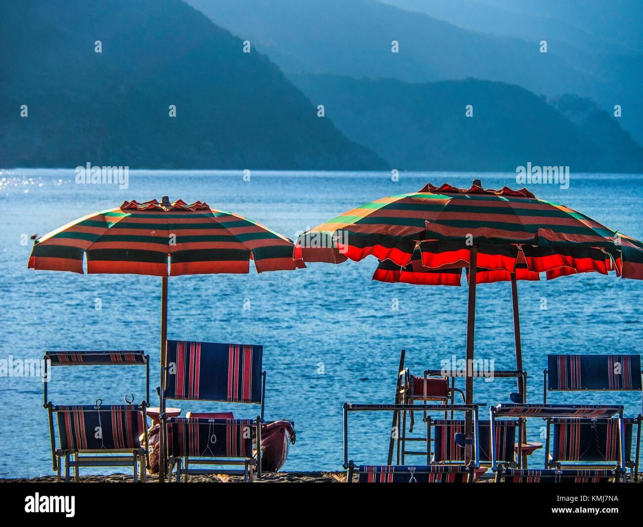 L'Italia, le Cinque Terre Monterosso al Mare. Immagini Stock