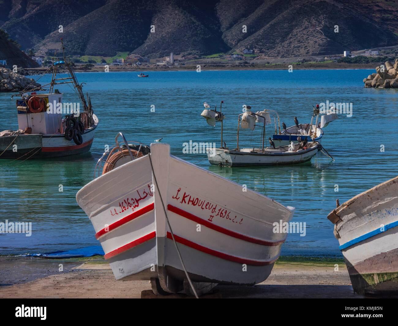 Il Marocco, a Saba, sulla parte settentrionale della costa mediterranea. Immagini Stock