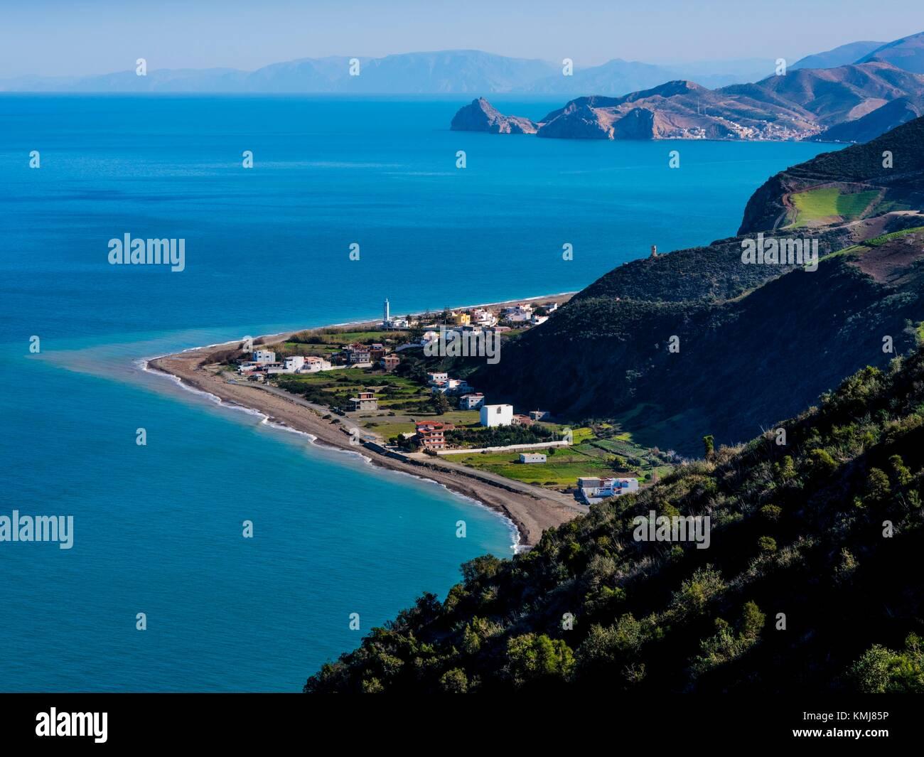Il Marocco, costa mediterranea nei pressi di Saba. Immagini Stock