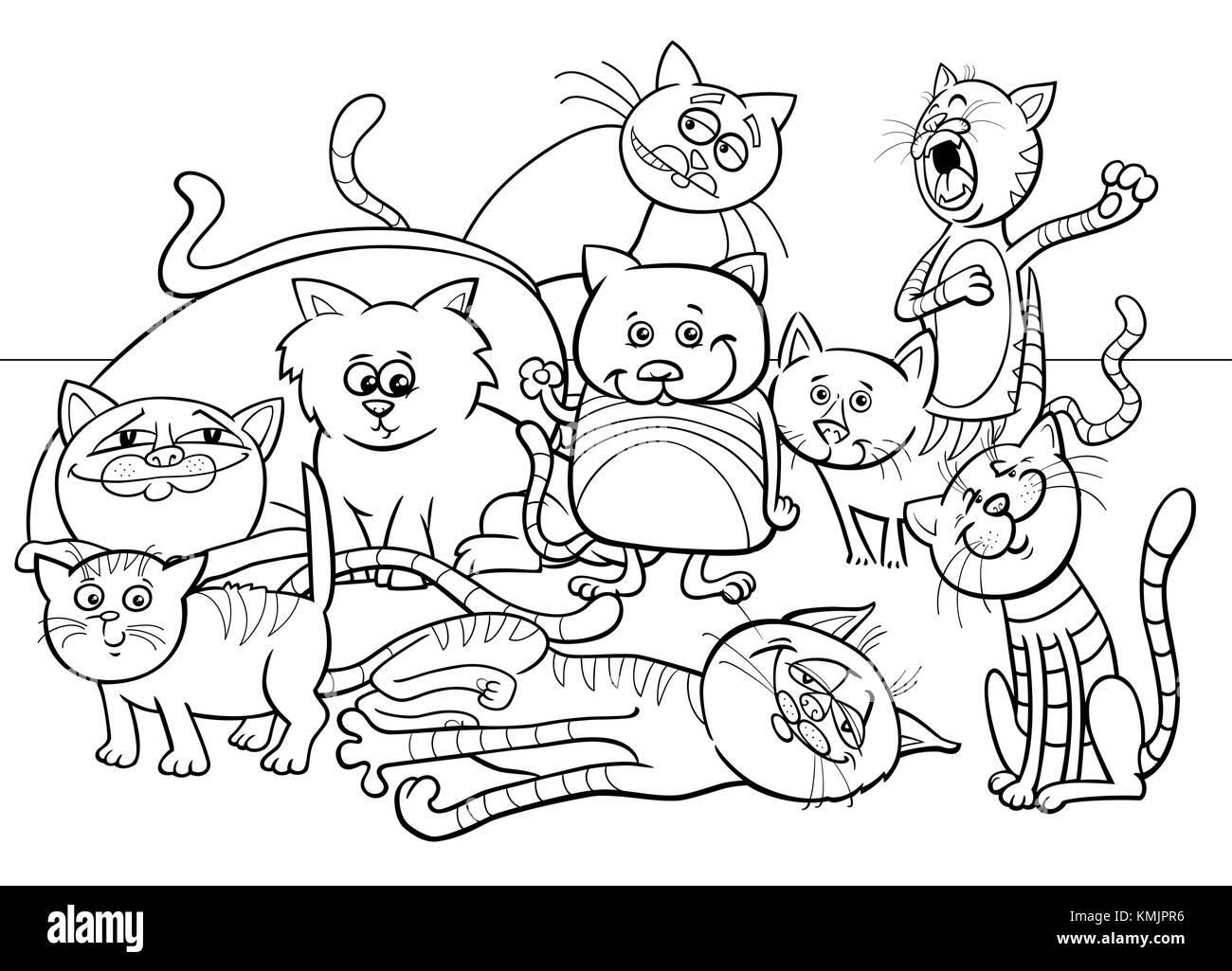 Bianco E Nero Libro Da Colorare Cartoon Illustrazione Di Divertenti