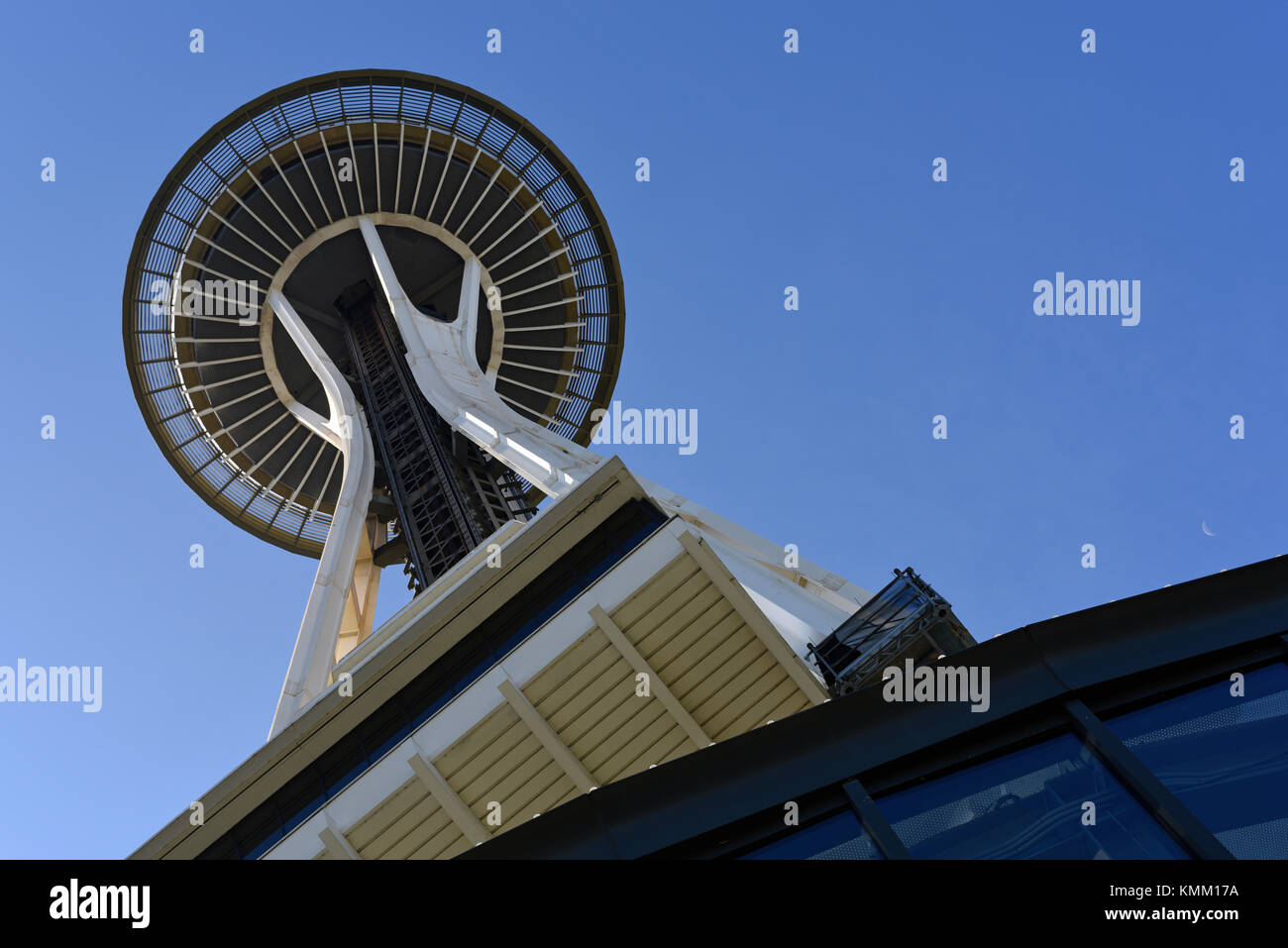 Il Seattle Space Needle torre di osservazione, nello Stato di Washington, USA Foto Stock