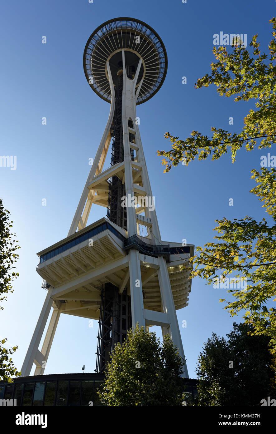 Il Seattle Space Needle torre di osservazione, nello Stato di Washington, USA Immagini Stock