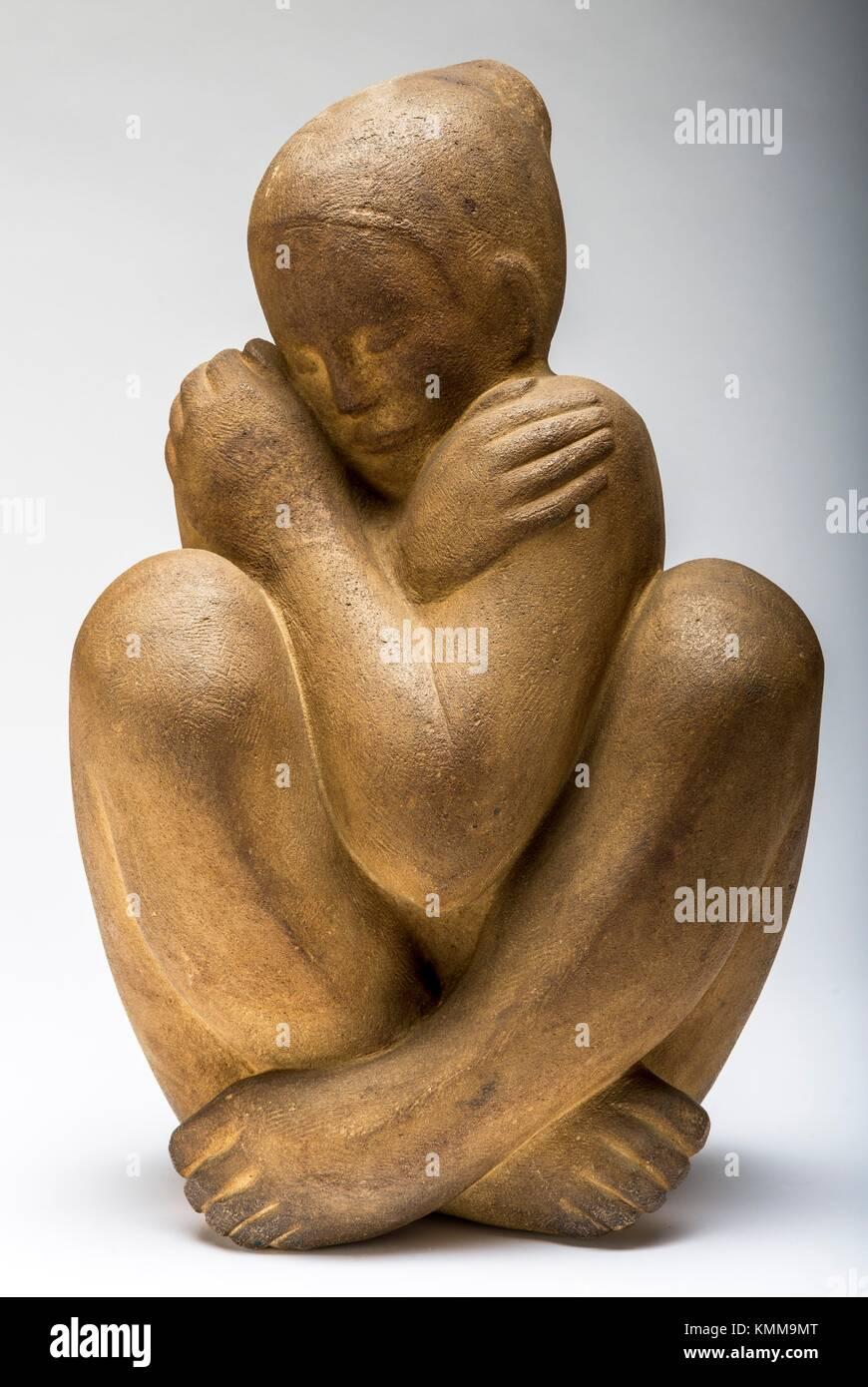 La morbidezza, la pietra intagliata 1963 da scultore francese Jean Henninger. Immagini Stock