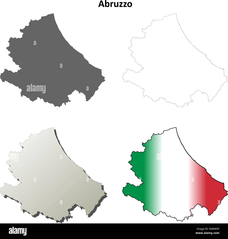 Cartina Dettagliata Abruzzo.Abruzzo Mappa Vettoriale Immagini E Fotos Stock Alamy