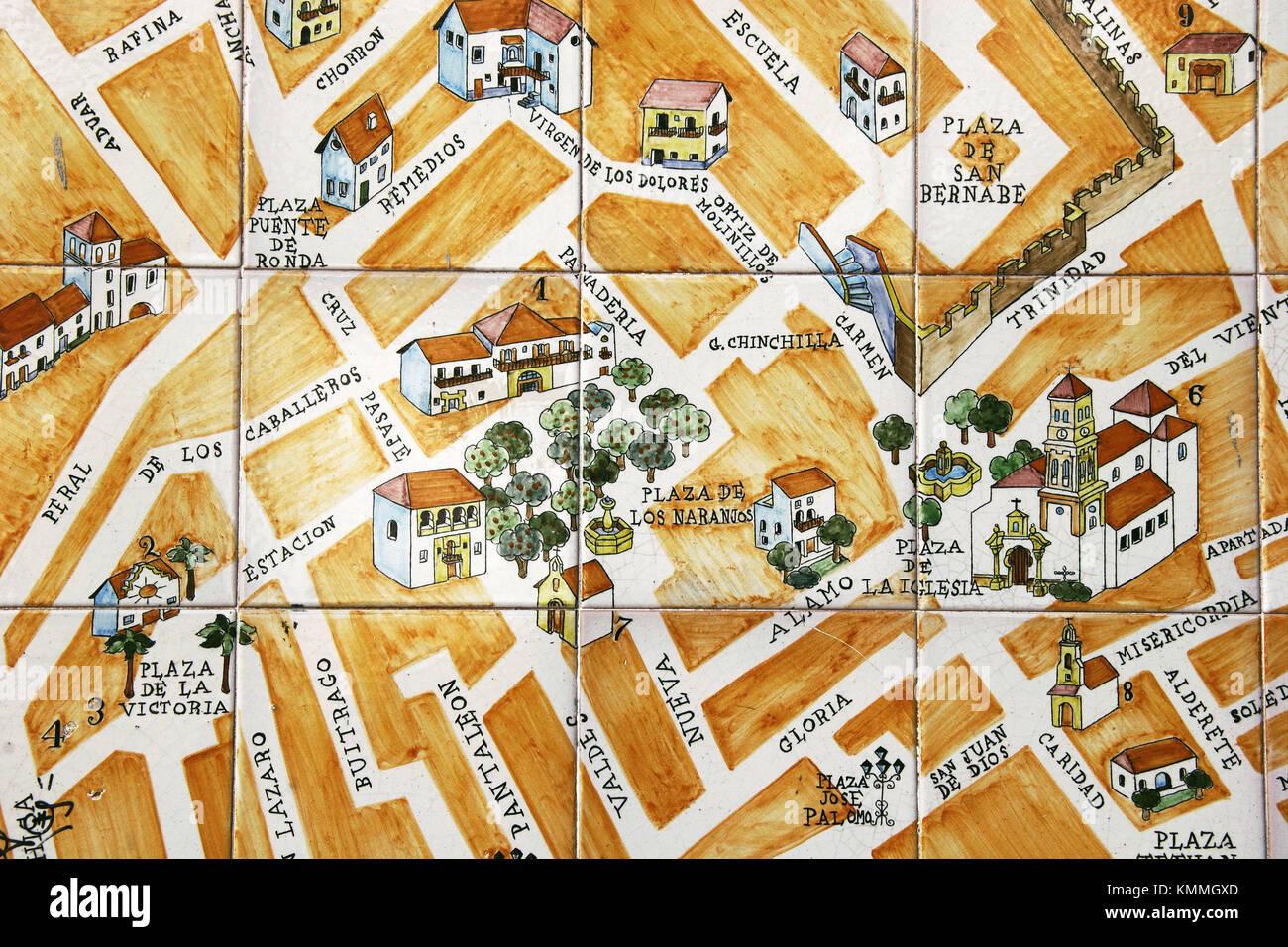 Malaga Spagna Cartina.Map Of Spain Marbella Immagini E Fotos Stock Alamy