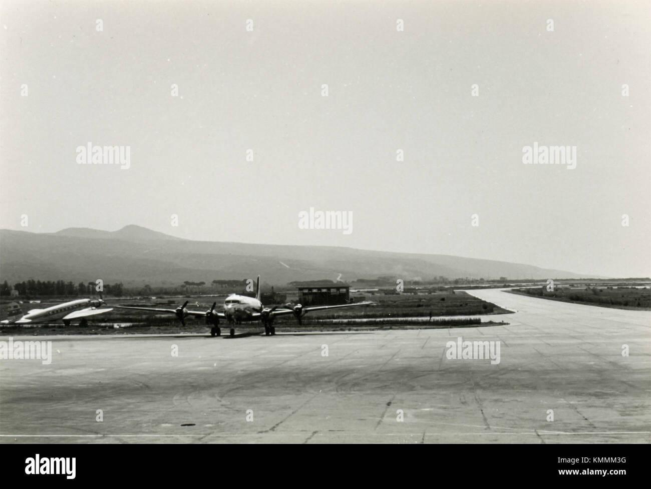 In aereo il runaway, 1950s Immagini Stock