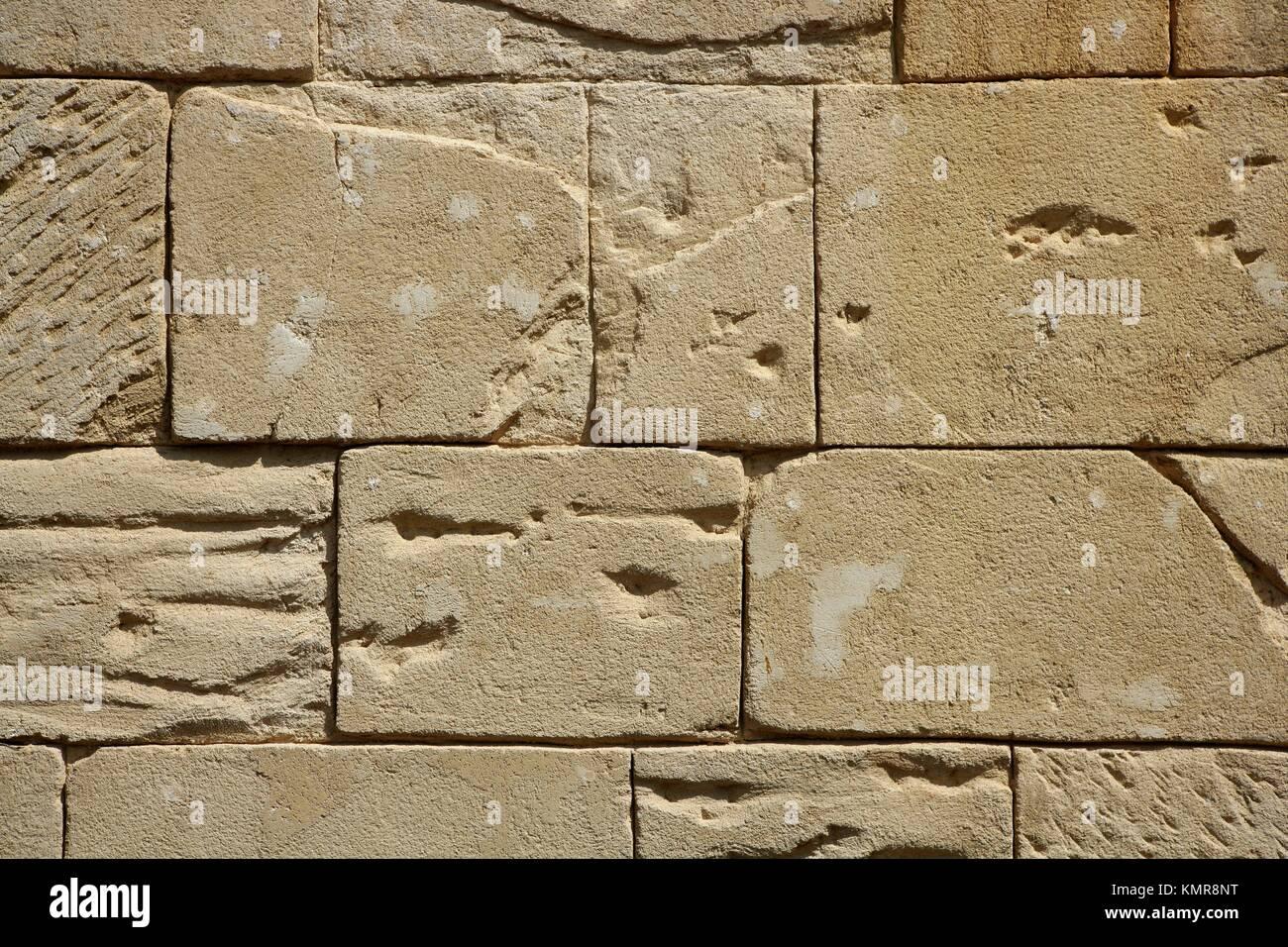 Pareti In Finta Pietra grande rettangolo muratura pietre su una parete, finta