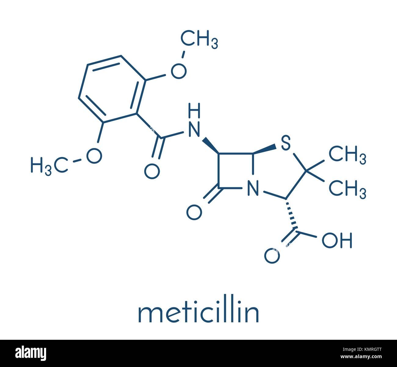 1aca96239901 Meticillin farmaci antibiotici (beta-lattamici classe) molecola. mrsa è  sinonimo di Staphylococcus aureus resistente alla meticillina. formula  scheletrico.