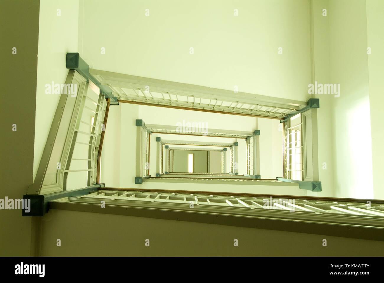 San Paolo ospedale nel centro cittadino di Vancouver è un vecchio edificio con una scalinata e grandi finestre Immagini Stock