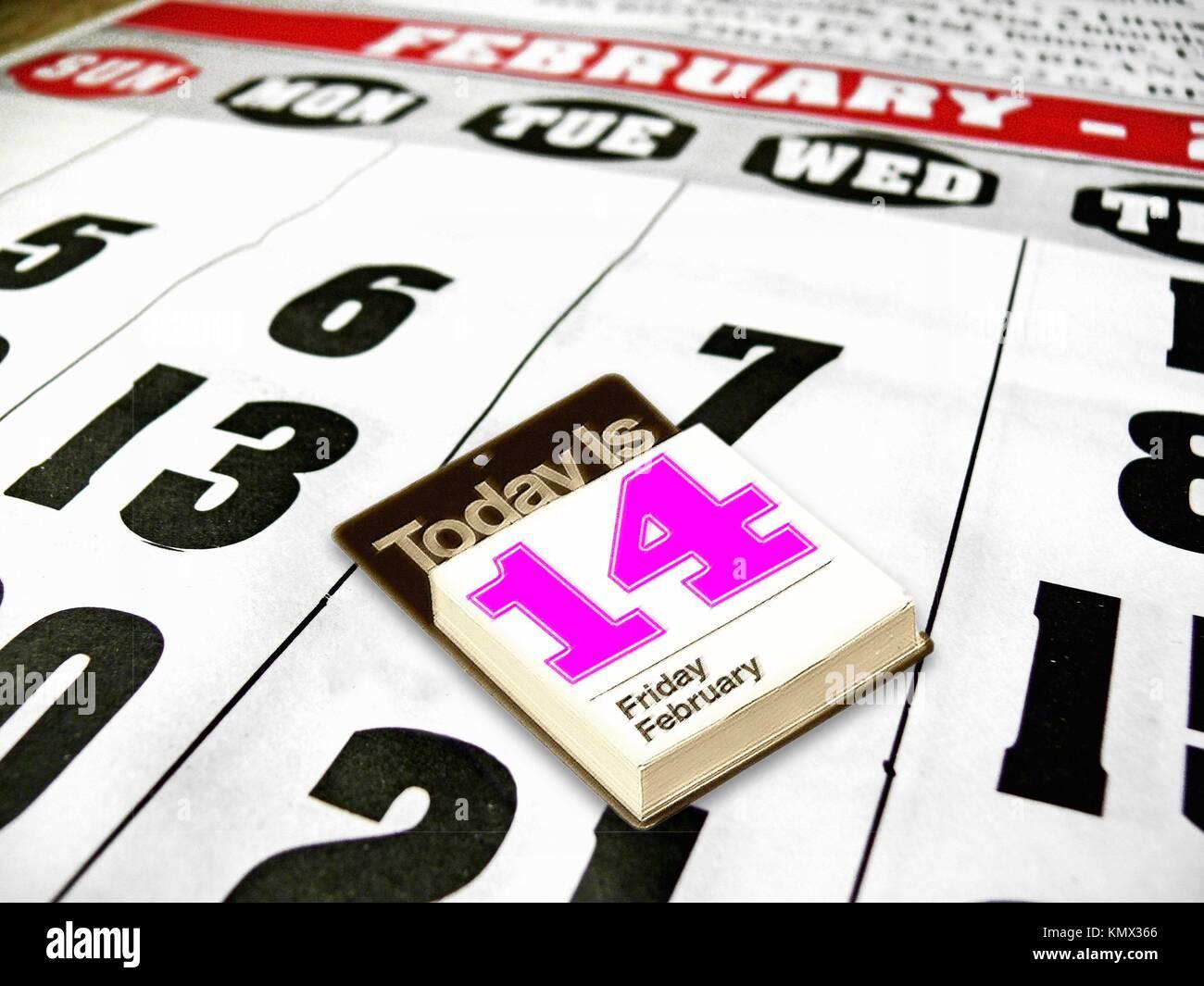 Calendario Solo Numeri.Pagina Del Calendario Del Mese Di Febbraio Numero