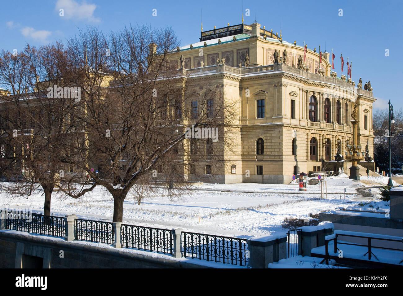 Rudolfinum, Alsovo nabrezi, Stare Mesto (UNESCO), Praha, Ceska republika / Rudolfinum, città vecchia, Praga, Repubblica Ceca Foto Stock