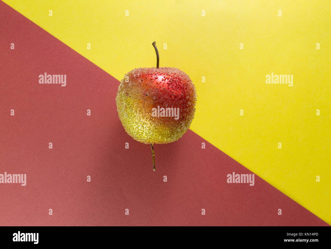 Sfondi Natalizi Apple.Natale Decorativo Apple Su Giallo E Marrone Sfondi Posizionato