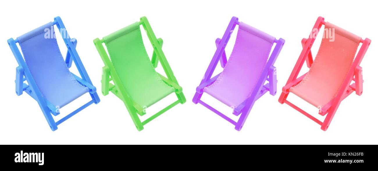 Sedie A Sdraio In Miniatura.Miniatura Di Sedie A Sdraio Su Sfondo Bianco Foto Immagine Stock